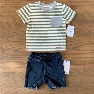 HUDSON Jeans Cotton Striped Jersey Tee & Shorts